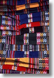capital of peru, cities, cityscapes, cuzco, latin america, market, peru, peruvian capital, textiles, towns, vertical, photograph