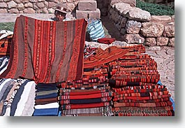 capital of peru, cities, cityscapes, cuzco, horizontal, latin america, market, peru, peruvian capital, textiles, towns, photograph