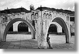 arches, black and white, capital of peru, cities, cityscapes, cuzco, horizontal, latin america, peru, peruvian capital, towns, photograph