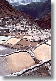 ancient ruins, andes, architectural ruins, inca trail, incan tribes, latin america, maras, mountains, peru, salineras, salt flats, stone ruins, vertical, photograph