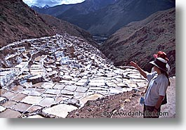 ancient ruins, andes, architectural ruins, horizontal, inca trail, incan tribes, latin america, maras, mountains, peru, salineras, salt flats, stone ruins, photograph