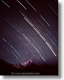 ancient ruins, andes, architectural ruins, inca trail, incan tribes, latin america, mountains, nite, peru, scenics, star trails, stars, stone ruins, veronica, vertical, photograph