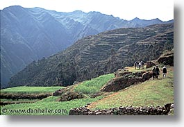 ancient ruins, andes, architectural ruins, chinchero, horizontal, inca trail, incan tribes, latin america, mountains, peru, stone ruins, urubamba, photograph