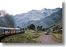 horizontal, latin america, peru, train tracks, trains, photograph