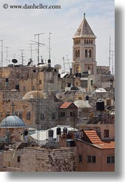 antennas, churches, cityscapes, israel, jerusalem, middle east, redeemer, towers, vertical, photograph
