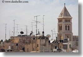 antennas, churches, cityscapes, horizontal, israel, jerusalem, middle east, redeemer, towers, photograph