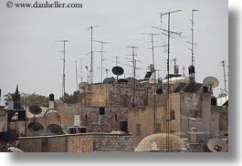 antennas, cityscapes, horizontal, israel, jerusalem, middle east, photograph