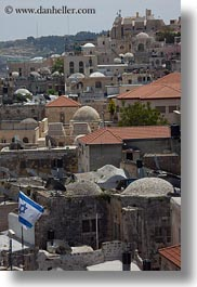 cityscapes, flags, israel, jerusalem, middle east, vertical, photograph