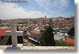 cityscapes, crosses, horizontal, israel, jerusalem, middle east, photograph