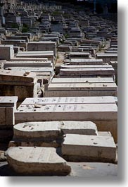 cemetary, graves, gravestones, israel, jerusalem, jewish, middle east, vertical, photograph