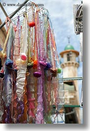 hangings, israel, jerusalem, merchandise, middle east, scarves, silk, vertical, photograph