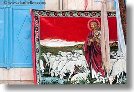 horizontal, israel, jerusalem, jesus, merchandise, middle east, rugs, shepherd, photograph