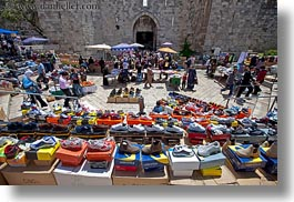 gates, herods, horizontal, israel, jerusalem, merchandise, middle east, shoes, photograph