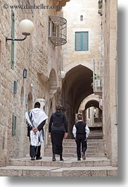families, israel, jerusalem, jewish, middle east, people, religious, stairs, vertical, walking, photograph