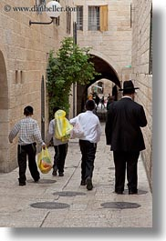 families, israel, jerusalem, jewish, middle east, people, religious, vertical, walking, photograph