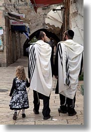 girls, israel, jerusalem, jewish, men, middle east, people, religious, vertical, walking, photograph