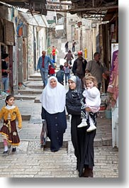 carrying, childrens, girls, israel, jerusalem, middle east, muslim, people, religious, vertical, womens, photograph