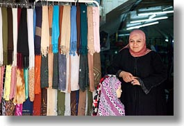 horizontal, israel, jerusalem, middle east, muslim, people, religious, scarves, selling, womens, photograph