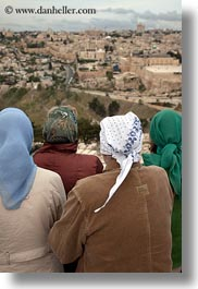 cityscapes, israel, jerusalem, middle east, muslim, people, religious, scarves, vertical, viewing, womens, photograph