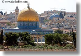 cityscapes, dome of the rock, domes, horizontal, israel, jerusalem, middle east, mosques, muslim, religious, religious sites, photograph