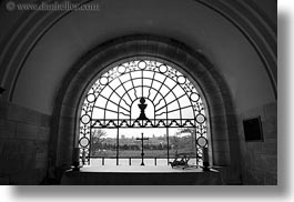 black and white, domes, dominus flevit, horizontal, israel, jerusalem, middle east, religious sites, views, windows, photograph