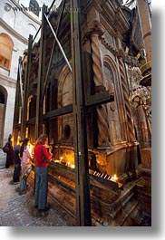 buildings, catholic, christs, churches, holy sepulchre, israel, jerusalem, middle east, religious, religious sites, shrine, structures, tombs, vertical, photograph