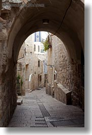 arches, israel, jerusalem, middle east, streets, tunnel, vertical, photograph
