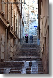 israel, jerusalem, men, middle east, stairs, streets, vertical, walking, photograph