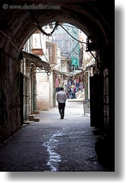 israel, jerusalem, middle east, people, streets, tunnel, vertical, walking, photograph