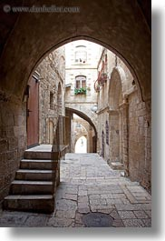 israel, jerusalem, middle east, stairs, streets, tunnel, vertical, photograph