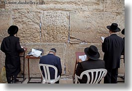 clothes, hats, horizontal, israel, jerusalem, jewish, men, middle east, praying, religious, temples, walls, western, western wall, photograph