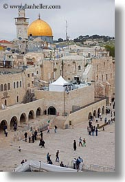 domes, israel, jerusalem, jewish, middle east, religious, rocks, temples, vertical, walls, western, western wall, photograph