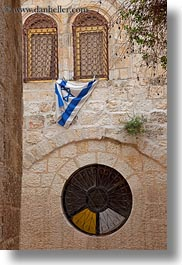arches, flags, israel, jerusalem, middle east, vertical, windows, photograph
