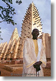 djenne, mali, men, mosques, towers, vertical, west africa, photograph