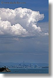auckland, cityscapes, clouds, new zealand, vertical, photograph