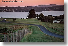 bayof islands, horizontal, new zealand, roads, sunsets, photograph
