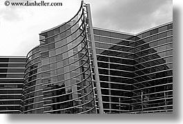 architectures, black and white, christchurch, horizontal, modern, new zealand, photograph