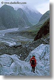 fox glacier, glaciers, hiking, new zealand, vertical, photograph