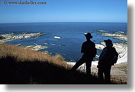hikers, horizontal, kaikoura penninsula, new zealand, people, silhouettes, photograph
