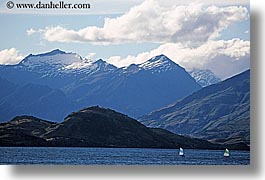 boats, horizontal, lake wanaka, lakes, new zealand, photograph