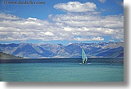 horizontal, lake wanaka, lakes, new zealand, windsurfer, photograph