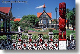horizontal, maori, new zealand, sculptures, photograph