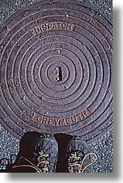 covers, hokitika, manholes, new zealand, vertical, photograph