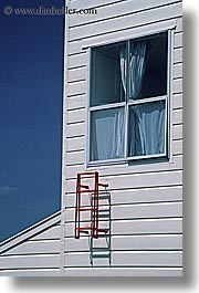 ladder, new zealand, red, vertical, windows, photograph