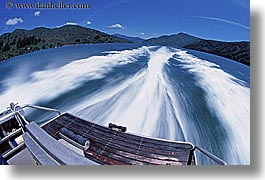 fastboat, horizontal, motion blur, new zealand, queen charlotte, wake, photograph