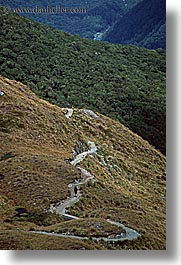 hikers, new zealand, routeburn, scenics, vertical, photograph