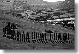 aerials, black and white, horizontal, landscapes, new zealand, scenics, photograph