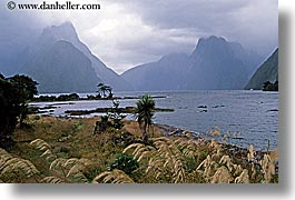 fjord, foggy, horizontal, milford sound, new zealand, scenics, photograph