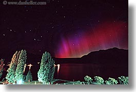 aurora, australis, horizontal, lights, new zealand, nite, queenstown, star trails, stars, photograph