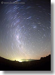 australis, new zealand, nite, star trails, stars, tongariro, vertical, photograph